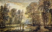 Aert van der Neer - Sunset in the Wood