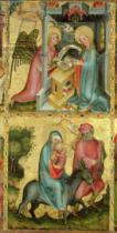 Master Bertram of Minden - The Annunciation and the Flight into Egypt, from the Buxtehude Altar, 1400-10