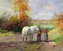 Thomas Ludwig Herbst - Encounter on the Way to the Field, 1897