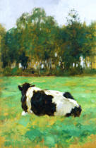Thomas Ludwig Herbst - A Cow in the Meadow