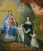 Philippe de Champaigne - The Virgin Mary gives the Crown and Sceptre to Louis XIV, 1643