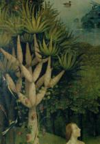 Hieronymus Bosch - The Tree of the Knowledge of Good and Evil, detail from the right panel of The Garden of Earthly Delights, c.1500