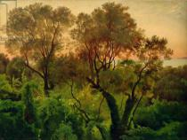 Louis Gurlitt - Slope with Olive Trees