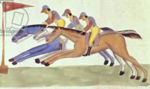 Kalighat School - Horse Racing in Bengal, c.1830