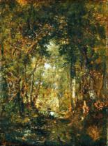 Pierre Etienne Théodore Rousseau - In the Wood at Fontainebleau