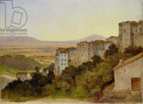 Heinrich Reinhold - View of Olevano, 1821-24