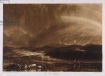Joseph Mallord William Turner - Peat Bog, Scotland, engraved by George Clint (1770-1854)