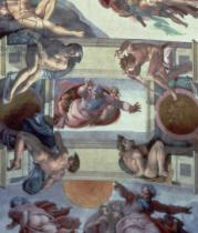 Michelangelo Buonarroti - Sistine Chapel Ceiling (1508-12): The Separation of the Waters from the Earth, 1511-12