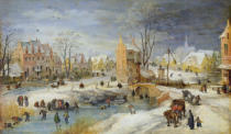 Joos de Momper - Village in Winter