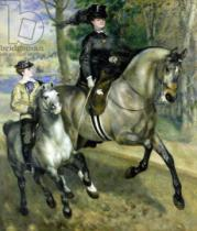Pierre Auguste Renoir - Horsewoman in the Bois de Boulogne, 1873