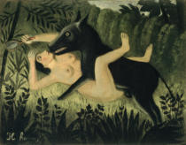 Henri J.F. Rousseau - Beauty and the Beast, c.1908