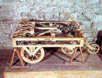 Leonardo da Vinci - Model of a car driven by springs, made from one of Leonardo's drawings