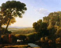 Claude Lorrain - A Sunset or Landscape with Argus Guarding Io
