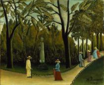 Henri J.F. Rousseau - The Monument to Chopin in the Luxembourg Gardens, 1909