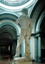 Michelangelo Buonarroti - David, view from behind, 1504