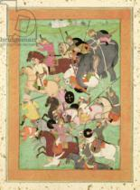 Mughal School - Battle Scene, from the Large Clive Album