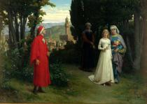 Raffaelle Gianetti - First meeting of Dante and Beatrice, 1877
