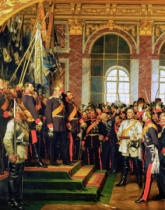 Anton Alexander von Werner - The Proclamation of Wilhelm as Kaiser of the new German Reich, in the Hall of Mirrors at Versailles on 18th January 1871, painte