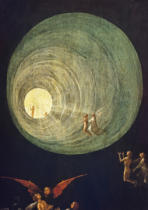Hieronymus Bosch - The Ascent of the Blessed, detail from a panel of an alterpiece thought to be of the Last Judgement
