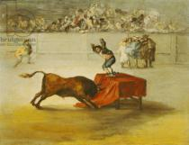 Eugenio Lucas y Padilla - Martincho's Other Folly in the Bull Ring at Saragossa, after a painting by Francisco Goya (1746-1828)