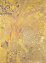 Odilon Redon - Tree Against a Yellow Background