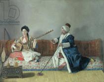 Jean-Etienne Liotard - Monsieur Levett and Mademoiselle Helene Glavany in Turkish Costumes