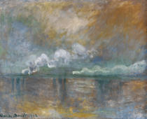 Claude Monet - Charing Cross Bridge, Smoke in the Fog, 1902
