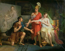 Charles Meynier - Alexander the Great (356-323 BC) Hands Over Campaspe to Apelles, 1822