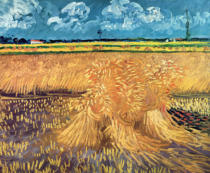 Vincent van Gogh - Wheatfield with Sheaves, 1888