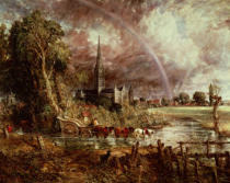John Constable - Salisbury Cathedral From the Meadows, 1831