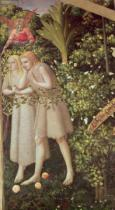 Fra Angelico - Adam and Eve Expelled from Paradise, detail from the Annunciation, c.1430-32