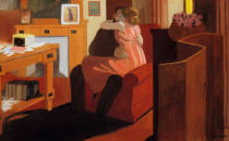 Felix Edouard Vallotton - Intimacy, Couple in an Interior with a Partition, 1898