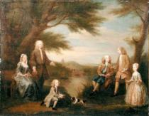 William Hogarth - John and Elizabeth Jeffreys and their Children, 1730