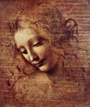 Leonardo da Vinci - Head of a Young Woman with Tousled Hair or, Leda