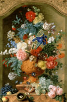 Jan van Huysum - Flowers in a Terracotta Vase, 1736