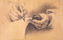 Philipp Otto Runge - Drawing Hands, 1798