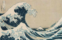Katsushika Hokusai - The Great Wave of Kanagawa, from the series '36 Views of Mt. Fuji'  pub. by Nishimura Eijudo