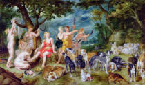 Jan Brueghel der Ältere - Diana and her Nymphs Preparing to Leave for the Hunt