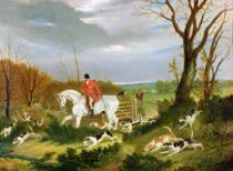 John Frederick Herring - The Suffolk Hunt - Going to Cover near Herringswell