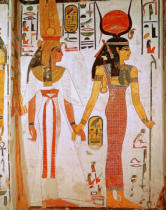 19th Dynasty Egyptian - Isis and Nefertari, from the Tomb of Nefertari, New Kingdom