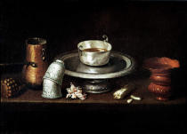 Juan de Zurbaran - Still Life with a Bowl of Chocolate, or Breakfast with Chocolate, c.1640