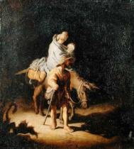 Gerrit or Gerard Dou - The Flight into Egypt
