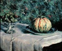 Gustave Caillebotte - Melon and Fruit Bowl with Figs, 1880-82