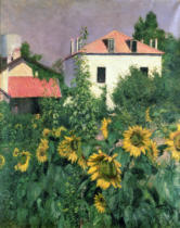 Gustave Caillebotte - Sunflowers in the Garden at Petit Gennevilliers