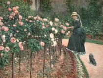 Gustave Caillebotte - Roses in the Garden at Petit Gennevilliers, 1886
