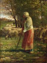 Jean-François Millet - The Little Shepherdess