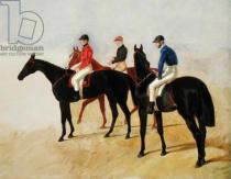 John Frederick Herring - Study of Three Steeplechase Cracks: Allen McDonough on Brunette, Tom Oliver on Discount and Jem Mason on Lottery, or Three Raceh