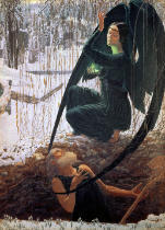 Carlos Schwabe - The Death and the Gravedigger, 1900