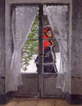 Claude Monet - The Red Cape  c.1870