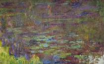 Claude Monet - Waterlilies at Sunset, detail from the right hand side, 1915-26